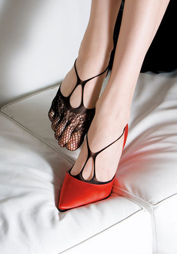 Women's Red Leather Pointed Toe Stiletto Heels Pumps Shoes