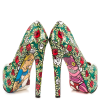 Alice in Wonderland Floral Heels Platform Pumps for Halloween thumb 1