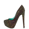 Colorful Hotfix Rhinestone Heels Rose Sole Evening Pumps thumb 1