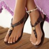 Women's Brown Summer Sandals Comfortable Flats Beach Flip Flops thumb 1