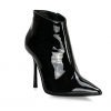 Custom Made Stiletto Heel Patent Leather Ankle Booties in Black thumb 1