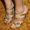 Gold Glitter Evening Shoes Stiletto Heel Platform Sandals Prom Shoes thumb 1