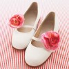 Ivory Wedding Flats Floral Round Toe Cute Shoes for Bridesmaid thumb 1