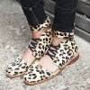 Leopard Print Flats Horsehair Ankle Strap Heels Comfortable Shoes thumb 1