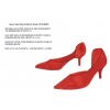 Red Stiletto Heels Dress Shoes Pointy Toe Transparent Pumps thumb 1