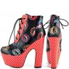 Vampire Lace up Boots Platform Chunky Heel Ankle Boots for Halloween thumb 1