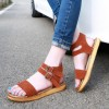 Tan Suede Summer Sandals Open Toe Flats All Size Avaliable thumb 1