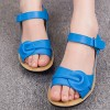 Cobalt Blue Shoes Open Toe Flat Summer Sandals thumb 1
