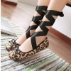 Leopard Print Flats Suede Strappy Shoes US Size 3-15 thumb 1