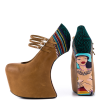 Brown Wedge Shoes Platform Mary Jane Closed Toe Wedges thumb 1