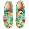 Women's Colorful Printed Sneakers Lace-Up Comfortable Flats  thumb 4