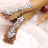 Women's Rhinestone Open Toe Ankle Straps Chunky Clear Heels Sandals thumb 2