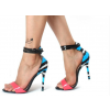Hot Pink Ankle Strap Sandals Blue Python Open Toe Stiletto Heels thumb 6