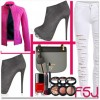 Dark Grey Platform Boots Stiletto Heels Suede Ankle Booties for Ladies thumb 6