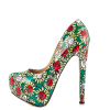Alice in Wonderland Floral Heels Platform Pumps for Halloween thumb 5