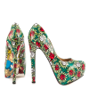 Alice in Wonderland Floral Heels Platform Pumps for Halloween thumb 3