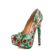 Alice in Wonderland Floral Heels Platform Pumps for Halloween thumb 4