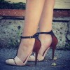 Women's Nude Stiletto Heels Pumps Ankle Strap Buckle T Strap Shoes thumb 3