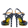 Black and White heels Floral Heels Closed Toe Sandals Slingback Shoes thumb 3