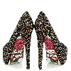 Colorful Hotfix Rhinestone Heels Rose Sole Evening Pumps thumb 2