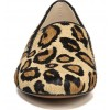 Brown Horsehair Leopard Print Loafers for Women thumb 4