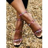 Colors Rhinestone Clear Heels Stiletto Heels Strappy Sandals thumb 6