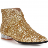 Women's Golden Ankle Fashion Boots Pointed Toe Sparkly Shoes thumb 4