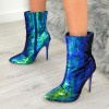 Green Sequined Stiletto Heel Fashion Boots thumb 3