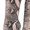 Grey Snakeskin Boots Pointed Toe Stiletto Heel Thigh High Boots thumb 2