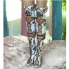 Embroidered Summer Boots Holographic Shoes Buckles Thigh High Boots thumb 2