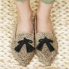 Khaki Leopard Print Flats Suede Loafers for Women with Tassels thumb 2