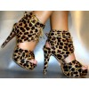 Leopard Print Boots Lace up Horsehair Cheetah Summer Booties thumb 2