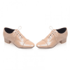 Nude Lace up Women's Oxfords Block Heel School Shoes US Size 3-15 thumb 3