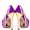 Purple Heels Almond Toe Stiletto Heels Pumps Platform Heels for Women thumb 2