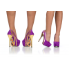 Purple Heels Almond Toe Stiletto Heels Pumps Platform Heels for Women thumb 4