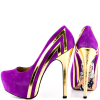 Purple Heels Almond Toe Stiletto Heels Pumps Platform Heels for Women thumb 3