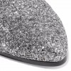 Silver Glitter Chelsea Boots Chunky Heels Ankle Booties thumb 3