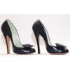 Women's Leila Black 4 Inch Heels Vintage Pumps Shoes thumb 2