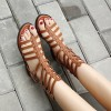 Tan Gladiator Sandals Open Toe Comfortable Summer Sandals thumb 2