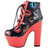 Vampire Lace up Boots Platform Chunky Heel Ankle Boots for Halloween thumb 5
