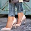 Women's Nude Dress Shoes Pointy Toe Commuting Stiletto Heels Pumps thumb 6