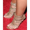 Gold Strappy Heels Sequined Stiletto Heel Sandals for Party thumb 2