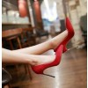 Coral Red Stiletto Heel Wedding Shoes thumb 3