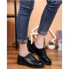Women's Leila Black Flats Boots-Ankle  Lace-up Oxfords Vintage Shoes thumb 5