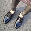 Black Women's Oxfords Comfortable Lace up Dress Shoes thumb 2