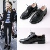 Black Women's Oxfords Comfortable Lace up Dress Shoes thumb 3