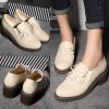 Beige Vintage Shoes Round Toe Brogues School Shoes thumb 2