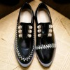 Women's Black Oxfords Rhinestones and Pears Vintage Shoes thumb 3