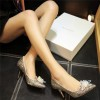 Women's Golden Heels Dazzling Crystal Stiletto Heel Pumps Bridal Heels thumb 2