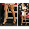 Women's Black Stiletto Heels Dress Shoes Strappy Ankle Strap Sandals with Bow thumb 3